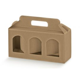 Dėžutė Portavasetti 3 skyrių gofruota