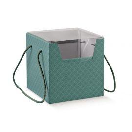 Dėžutė Prestige su pvc. dangteliu ir medžiaginėmis rankenėlėmis