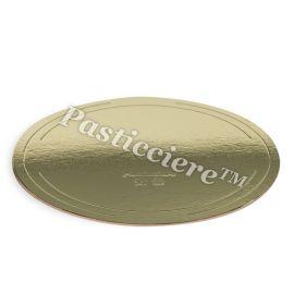 Padėklas tortui 24 cm. auksinis - perlas. Storis 3,3 mm.