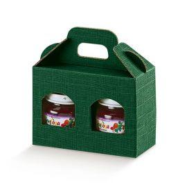 Dėžutė Portavasetti 2 skyriai žalia