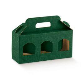 Dėžutė Portavasetti 3 skyriai žalia