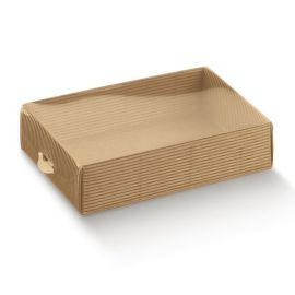 Dėžutė Dolcezza su skaidriu pvc. dangteliu gofruota