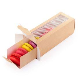 Dėžutė Eco Macarons su skaidriu langeliu