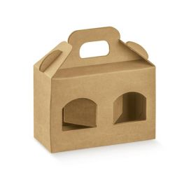 Dėžutė Portavasetti 2 skyriai natūrali ruda