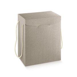 Dėžutė su medžiaginėmis rankenėlėmis pilka