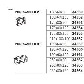 Dėžutė Portavasetti 2 skyriai auksinė