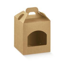 Dėžutė Portavasetti 1 skyrius natūrali ruda