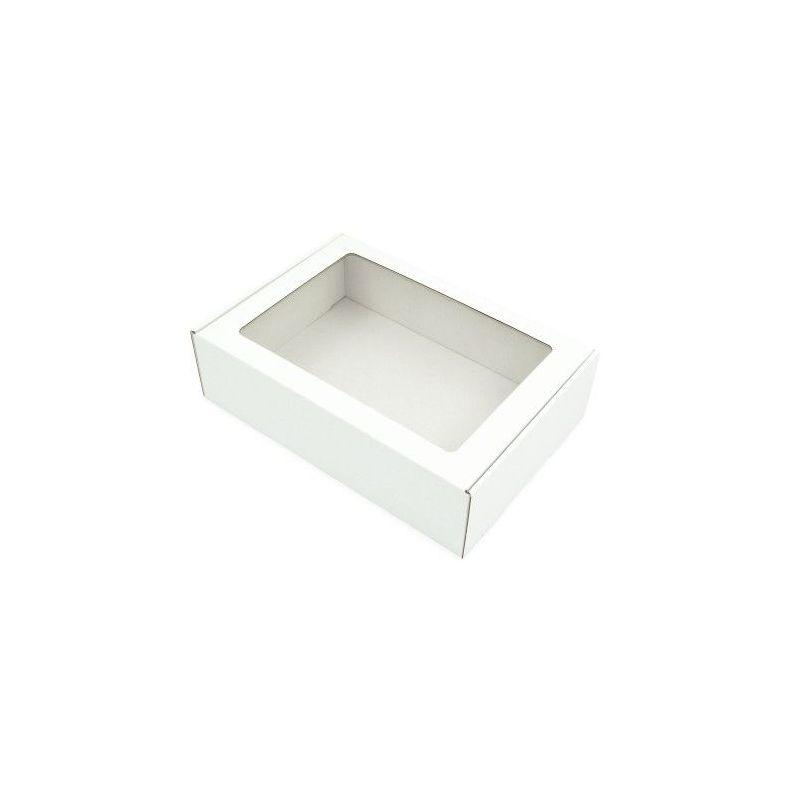Dėžutė MS su skaidriu langeliu balta