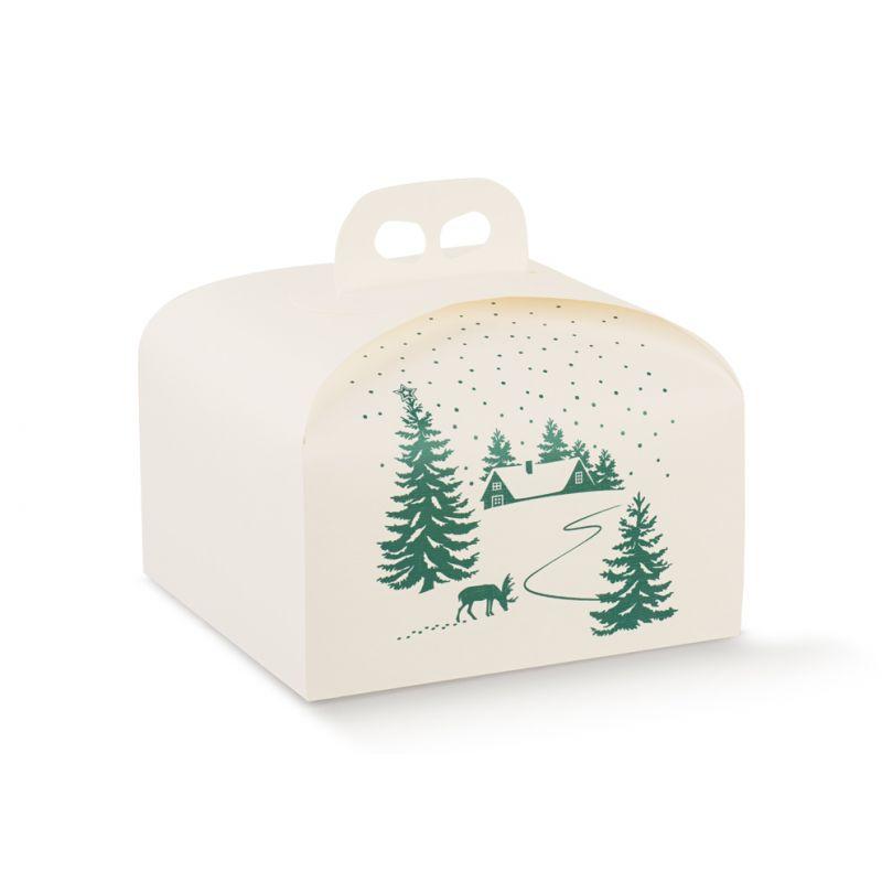 Dėžutė Kalėdinė Portapanettone su rankenėle