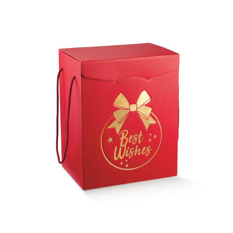 Kalėdinė dėžė su medžiaginėmis rankenėlėmis