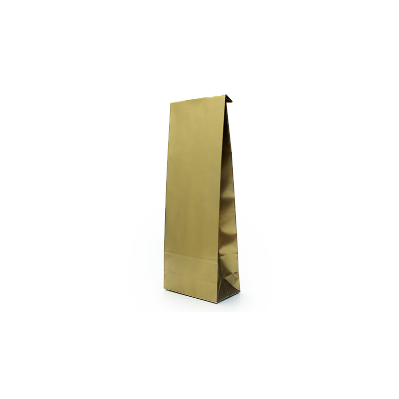 Popieriniai laminuoti blizgūs auksiniai maišeliai