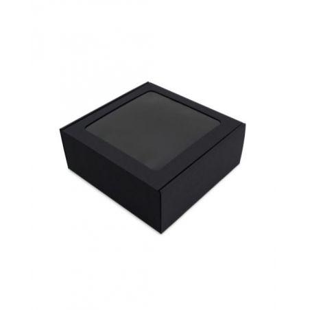 Dėžutė su skaidriu langeliu greito uždarymo juoda