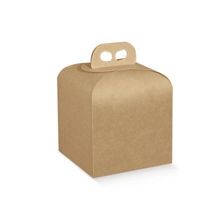 Dėžutė Portapanettone kraft su rankenėle