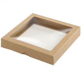 Dėžutė iš kartono su skaidriu langeliu
