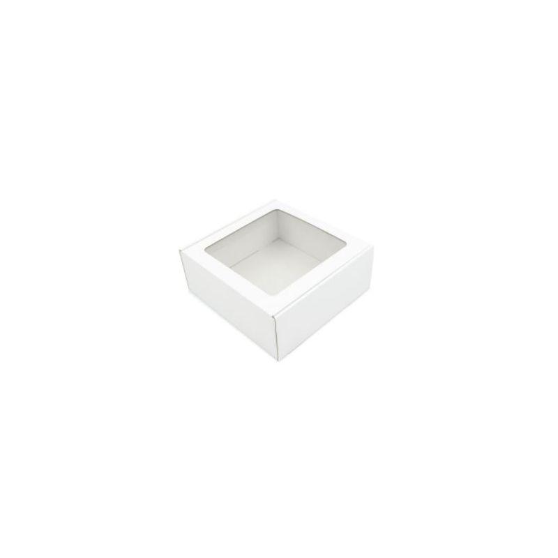 Dėžutė su skaidriu langeliu greito uždarymo balta