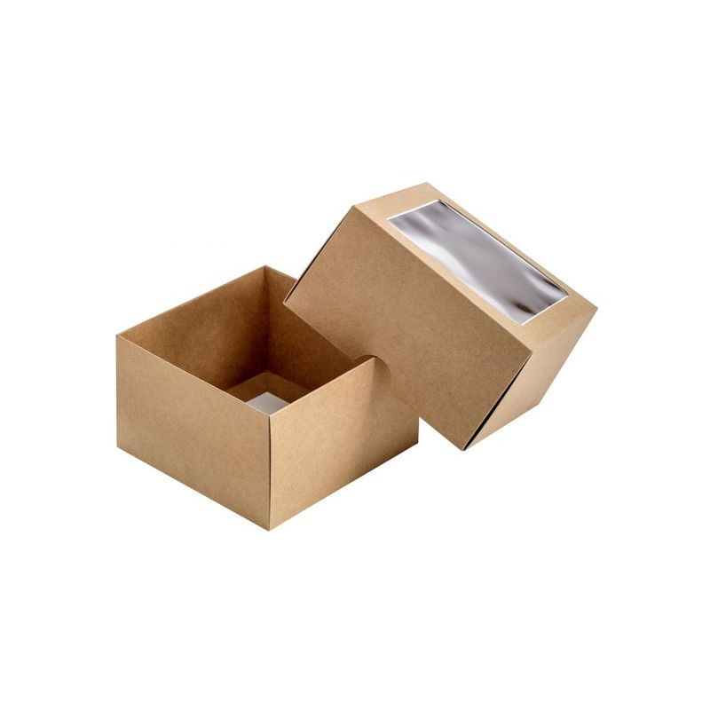 Dviejų dalių dėžutė su langeliu