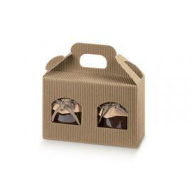 Dėžutė Portavasetti 2 skyrių gofruota