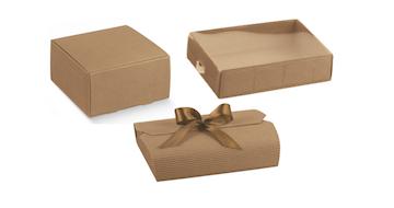 Dėžutės rudos gofruotos