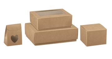 Dėžutės rudos natūralios