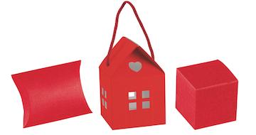 Dėžutės raudonos rožinės bordo