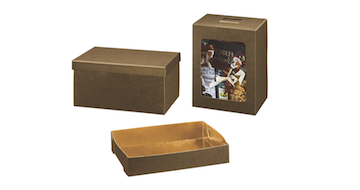 Dėžutės tamsiai rudos